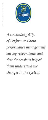 A resounding 91% of Perform to Grow performance management survey respondents said that the sessions helped them understand the changes in the system.