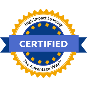 High Impact Learning: The Advantage Way official certification badge