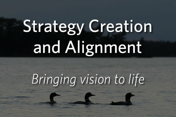 Strategy Creation and Alignment - Bringing vision to ife