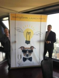 My colleagues, Jeff and Eric, as we set up for today's Multipliers Launch Party on the 95th floor of the John Hancock Center in Chicago. What a view!!! (photo by Steve Doolittle)