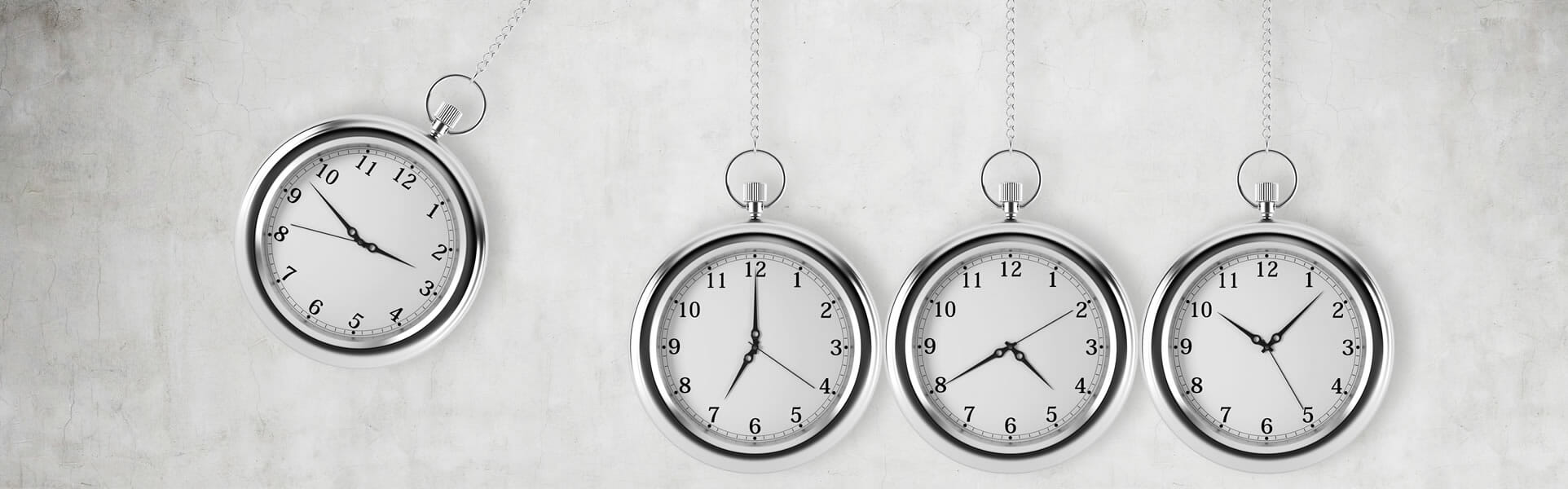improving productivity - watches as pendulums