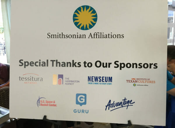 Sponsors of the the 2016 Smithsonian Affiliations National Conference