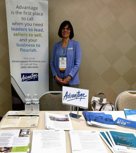 Advantage Partner Polly Thompson at our exhibit booth