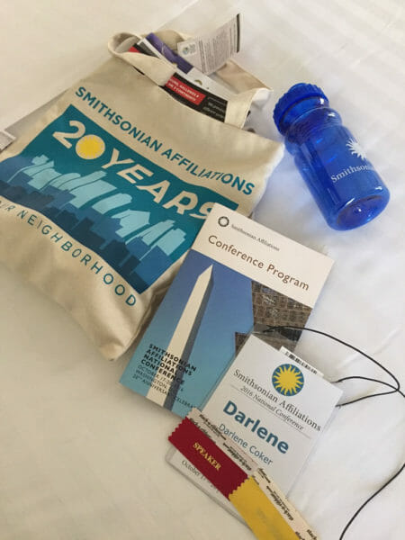 Swag from the 2016 Smithsonian Affiliations National Conference