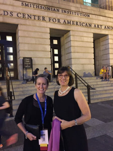 Advantage Partner Polly Thompson and Consultant Darlene Coker at the National Portrait Gallery, site of the 20th anniversary dinner reception