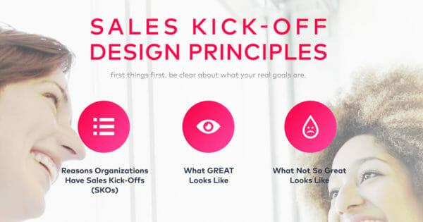 sales kick-off design principles