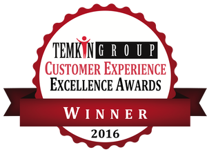 Temkin Group Customer Experience Excellence Awards Winner