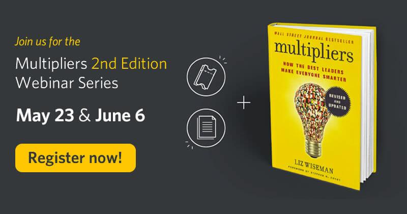 Register now for the multipliers webinar series