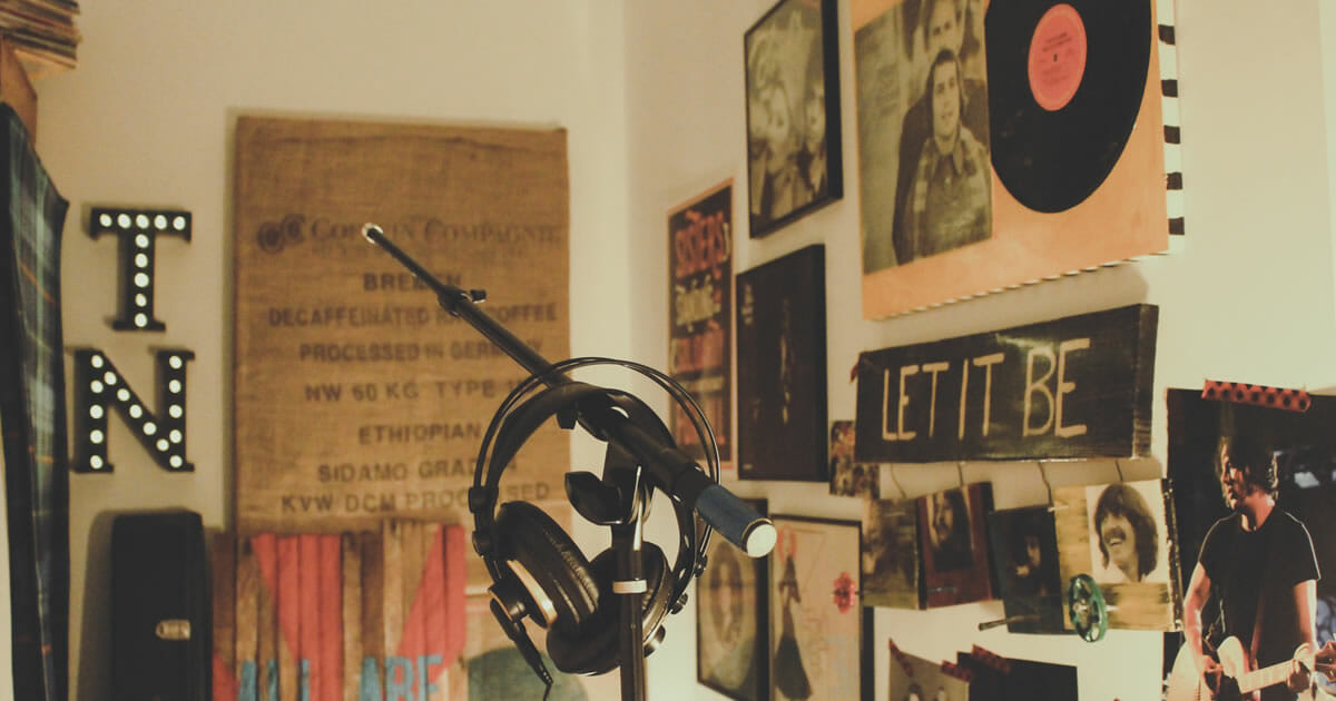 Play it again: webinar replays - Recording studio photo by Paulette Wooten on Unsplash