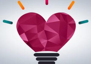 emotional intelligence heart lightbulb artwork