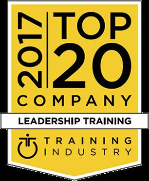 Training Industry Top 20 Company in Leadership Training badge