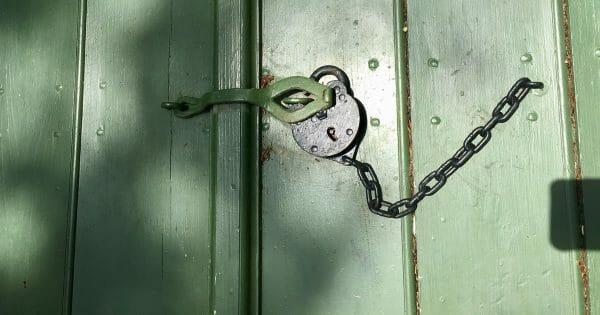 unlocking leader potential - photo of door with padlock