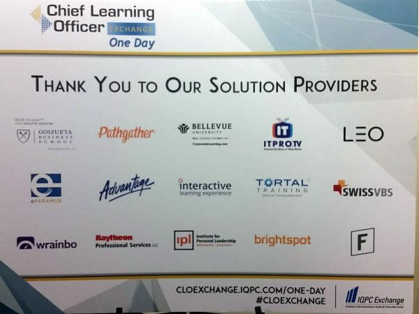 Learning providers participating in Chief Learning Officer's Exchange One Day in SAtlanta