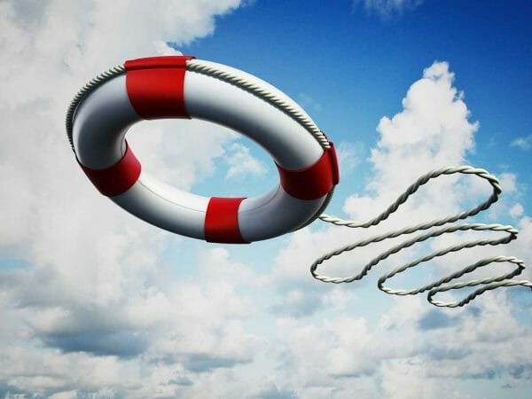 no rescue required: trasforming leadership (photo of life preserver being tossed)