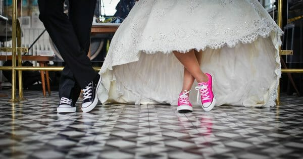 The 3 marriages of the professional services consultant - Pexels photo of bride and groom wearing sneakers