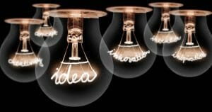 illustration with lightbulbs - create a culture of Multipliers