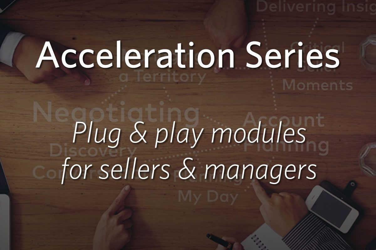 Acceleration Series - Plug & play modules for sellers & managers