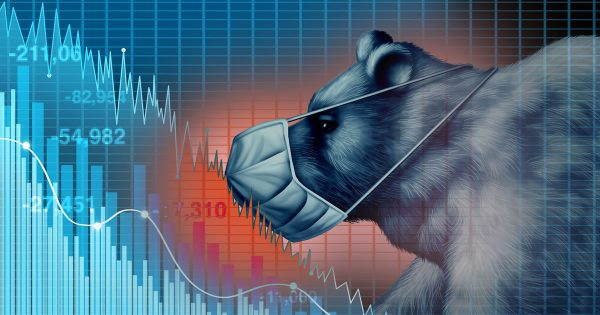 Selling in a Recession: Illustration of bear market during coronavirus