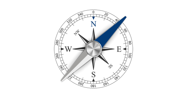 Pivoting together (image of compass)
