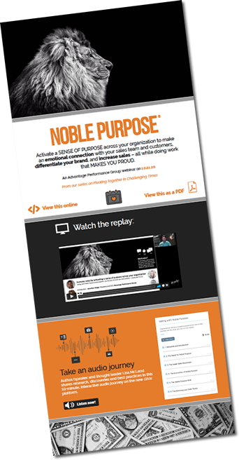 Access our interative infographic on Noble Pupose