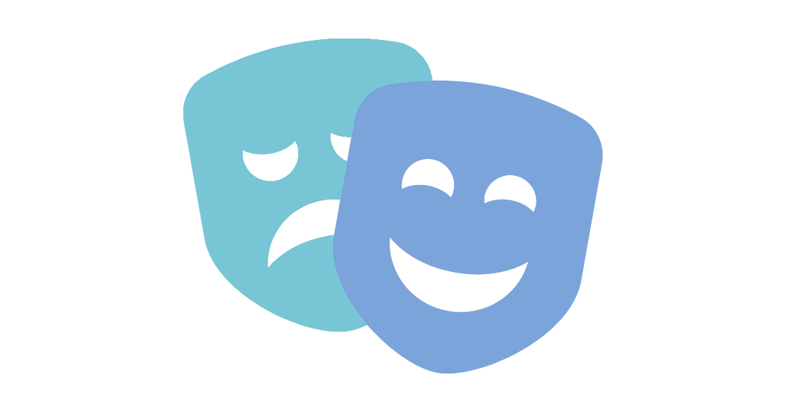 Talent Development Tuesday - Leading with emotion (drama masks icon)