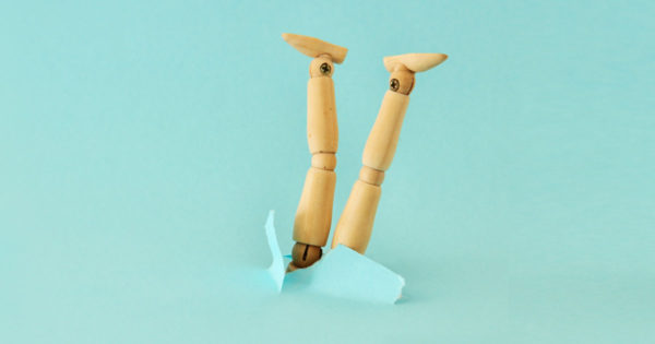 Leading with Psychological Safety - Ho has the pandemic really affected our collective emotyional intelligence? (photo of wooden dummy taking a nose dive)