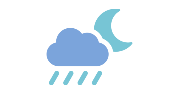 Talent Development Tuesday - Iy was a dark and stormy night... (raincloud and moon icon)