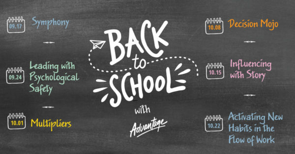 Go back to school with Advantage