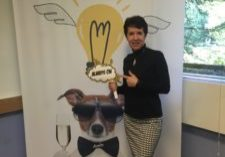 Tricia Garwood shows her Multipliers spirit at our Oct. 7 launch party in Philadelphia