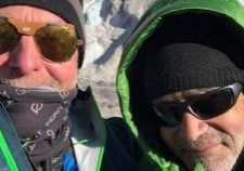 Brent Snow and Jamie Robertson during their trek to Mount Everest Base Camp