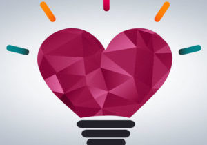 emotional intelligence heart lightbulb artwork