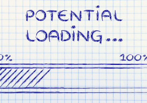 talent management potential loading (illustration of progress bar)