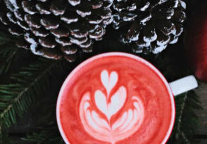 coffee and pinecones